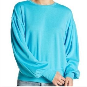 Romeo and Juliet Couture Blue Bubble Sleeve